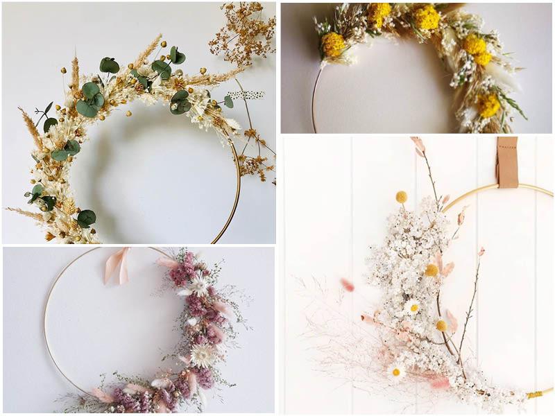 Compo couronne fleurs